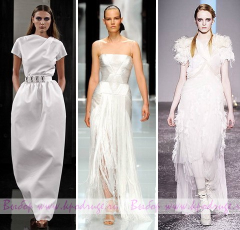 Самые красивые свадебные платья 2012 года.  Фото.