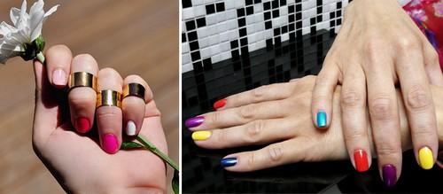Как накрасить ногти двумя цветами. Как правильно 51
