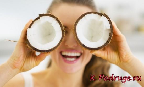 Кокосовое масло для лица - маски, скрабы