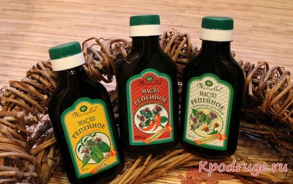 Бутылки покупные с репейным маслом