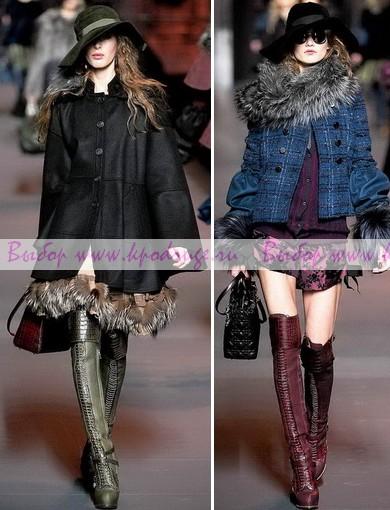 Модные сапоги весна-лето 2012 года