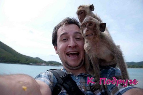 Селфи с обезьянками