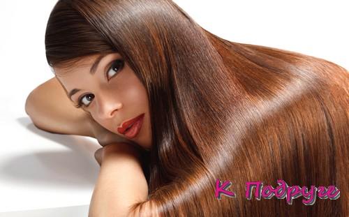 Девушка с длинными блестящими волосами