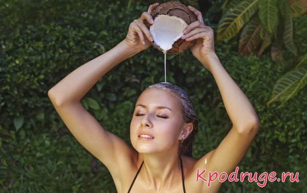 Кокосовое молочко для волос