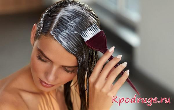 как наносить маску на волосы кистью